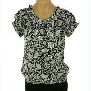 Chaps by ralph lauren keyhole blouse